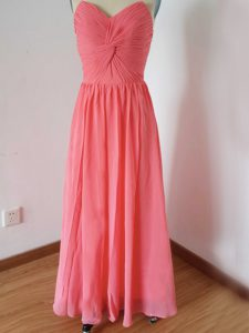 Sleeveless Ruching Zipper Bridesmaid Dresses
