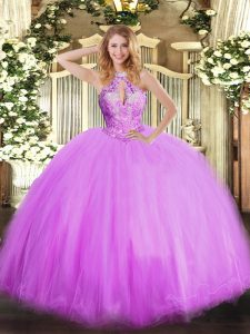 Pretty Sleeveless Lace Up Floor Length Beading Sweet 16 Quinceanera Dress