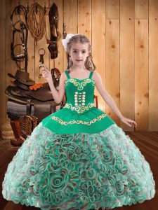 Floor Length Ball Gowns Sleeveless Multi-color Kids Formal Wear Lace Up