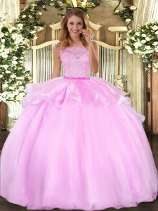 Colorful Floor Length Ball Gowns Sleeveless Lilac Ball Gown Prom Dress Clasp Handle
