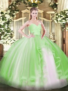 Sweetheart Neckline Ruffles 15 Quinceanera Dress Sleeveless Lace Up