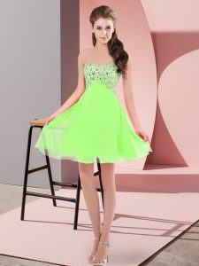 Edgy Sweetheart Sleeveless Lace Up Evening Dress Chiffon