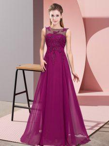 Smart Sleeveless Zipper Floor Length Beading and Appliques Damas Dress