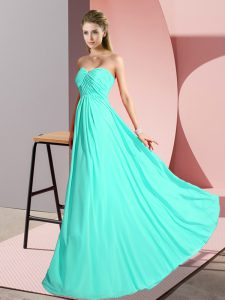 Clearance Chiffon Sleeveless Floor Length Dress for Prom and Ruching