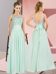 Sleeveless Beading Backless Evening Dress