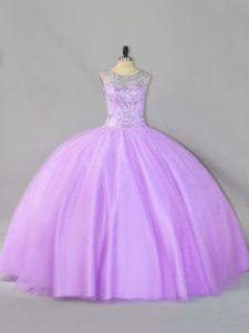 Suitable Floor Length Ball Gowns Sleeveless Lavender Sweet 16 Quinceanera Dress Zipper