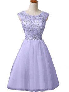 Sleeveless Beading Zipper Prom Party Dress