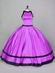Shining Floor Length Ball Gowns Sleeveless Lilac Sweet 16 Dress Zipper