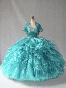 Fashionable Sleeveless Beading Lace Up Sweet 16 Quinceanera Dress