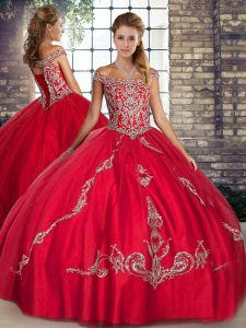 Glorious Sleeveless Beading and Embroidery Lace Up Vestidos de Quinceanera