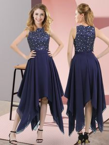On Sale Sleeveless Beading and Sequins Zipper Prom Party Dress