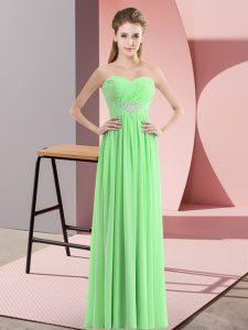 Amazing Sweetheart Sleeveless Zipper Prom Dress Chiffon