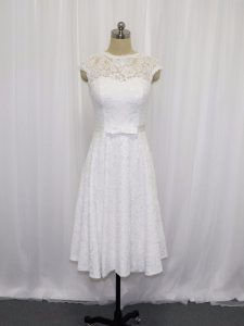 Great Scoop Sleeveless Lace Wedding Gowns Lace and Belt Lace Up