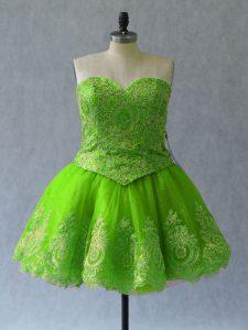 Eye-catching Sweetheart Sleeveless Lace Up Prom Dresses Tulle