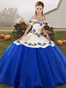 Sleeveless Lace Up Floor Length Embroidery and Ruffles Quinceanera Dresses