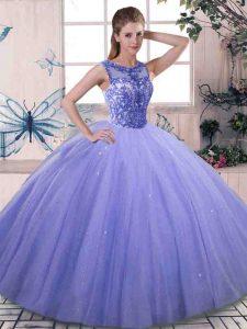 Graceful Sleeveless Beading Lace Up Vestidos de Quinceanera