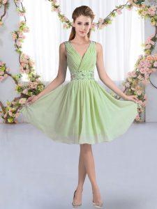 Custom Fit Sleeveless Beading Zipper Court Dresses for Sweet 16