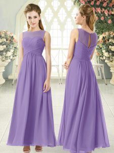 Elegant Sleeveless Ruching Zipper Prom Party Dress