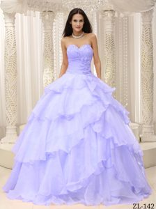 Lovely Ruched Bodice Dress for a Quinceanera on Sale