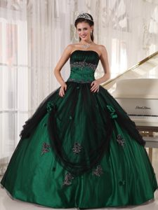 Impressive Green Strapless Quinceanera Dresses and with Beading