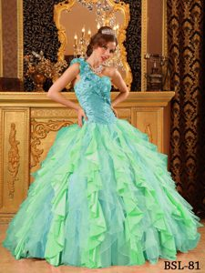 Most Recent Multi-Color One Shoulder Quinceanera Dresses Gowns with Beading