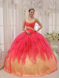 Strapless Organza Beaded and Ruched Quinceanera Dresses on Wholesale Price