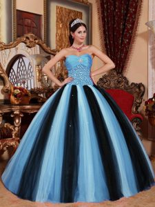 Multicolor Sweetheart Tulle Quinceanera Dress with Beading for Custom Made