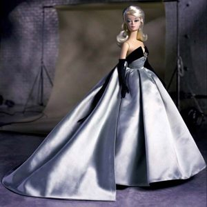 Exclusive Beading Grey Ball Gown Barbie Doll Dress