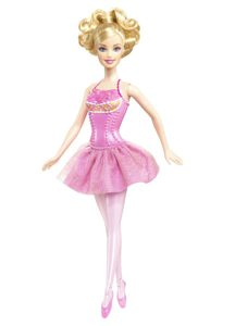Beading Princess Mini-length Pink Barbie Doll Dress