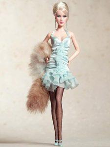 Cute Halter Apple Green Dress With Mini-length Barbie Doll Dress