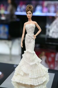 New Fashion Mermaid Dress With Ruffled Layers Gown for Barbie Doll