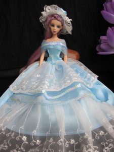 Fashion Handmade Barbie Princess Dress With Sequins Made to Fit the Barbie Doll