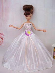 Hand Made Flower Ball Gown Barbie Doll Dress