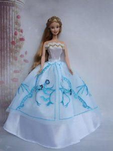 Pretty Ball Gown Taffeta and Organza Barbie Doll Dress