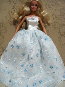 Embroidery Ball Gown Barbie Doll Dress
