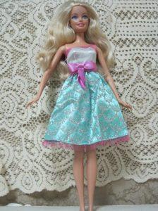 Fashion Princess Handmade Dress With Beading Knee-length Made to Fit the Barbie Doll