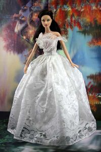 Lace White Off The Shoulder To Wedding Dress For Noble Barbie