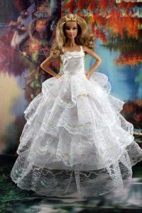 Pretty Ruffled Layers Wedding Dress To Barbie Doll Dress