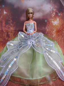 The Most Amazing Green Dress With Sequins Made To Fit The Barbie Doll