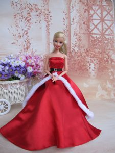Elegant Party Dress For Noble Barbie With Belt