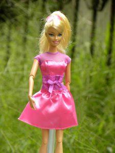 Lovely Handmade Rose Pink Scoop Appliques Sash For Barbie Doll Dress