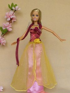 Colorful Hand Made Flowers Handmade Dresses Fashion Party Clothes Gown Skirt For Barbie Doll