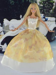 Pretty Handmade Dress Made to Fit the Barbie Doll