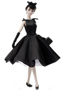 Fashion Handmade Black Barbie Party Dress For Barbie Doll
