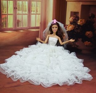 Romantic Wedding Dress To Barbie Doll With Ruffled Layers