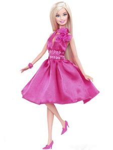 Pretty Princess Sequin Hot Pink Gown For Barbie Doll