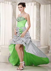 2014 Multicolor A-line Strapless High-low Beaded and Ruched Prom Dress
