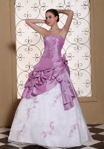 Beaded and Organza Prom Dress and Embroidery