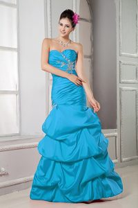 Sweet Mermaid Sweetheart Beaded Prom Dress with Pick-ups for Women