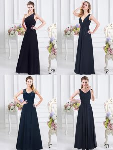 On Sale One Shoulder Sleeveless Ruching Side Zipper Bridesmaids Dress